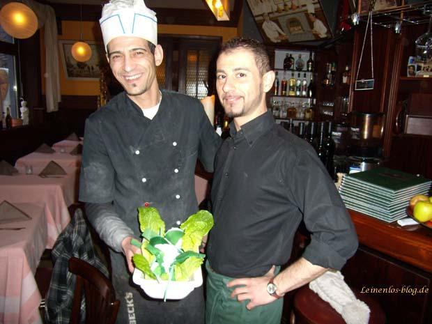 Inhaber Luca mit Kellner Marco