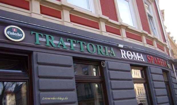 Trattoria Roma Sparita, Schriftzug