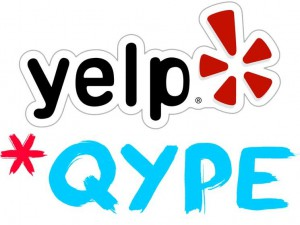 Yelp wird QYPE (groß)
