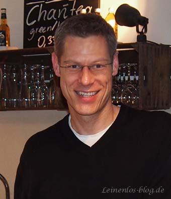 Marko Holmberg, Inhaber Café Saltkrokan in Hamburg-Altona