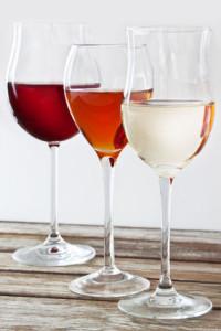 Rotwein, Rose-Wein, Weißwein