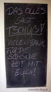 OLLEs sagt Tschüß