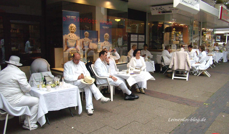 Erstes Weißes Dinner in Neugraben