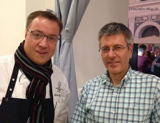 Gourmetkoch Mario Pattis (l.) und Manfred Troike