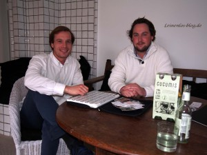 Cucumis-Gründer Vasco Kulke und Till Fischer-Bergst