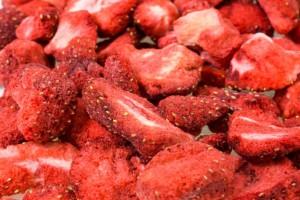Gefriergetrocktene Erdbeeren