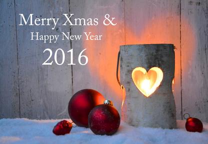 Weihnachtskarte - Merry Xmas 2016