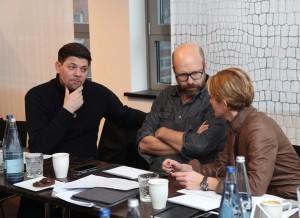 Tim Mälzer, Patrick Rüther und Yvonne Tschebull