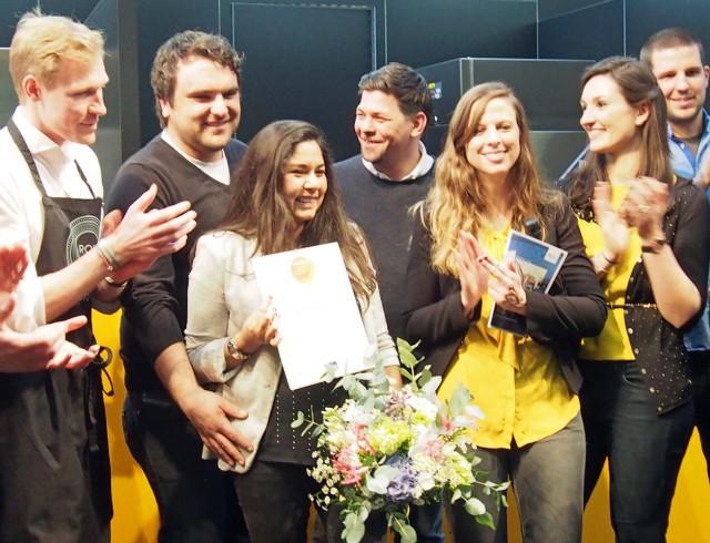 Die Gewinner des Gastro Startup-Wettbewerbs 2016 mit Tim Mälzer