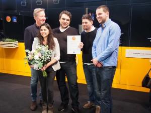 Gewinner des Gastro Startup-Wettbewerbs 2016 mit Tim Mälzer
