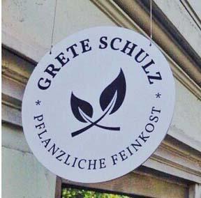 Grete Schulz Ladenschild