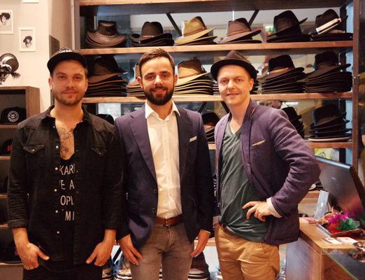Hut-Styler Gründer Robert Schimke, Danilo Zuchold, Nick Pätzold