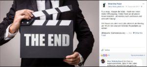 What-the-food Abschied auf Facebook