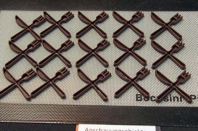 Schokoladen-Dekoration aus dem 3D-Drucker