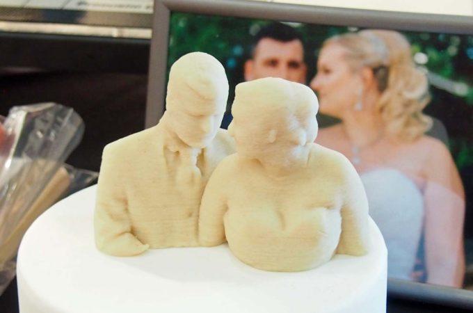 Marzipan-Skulptur aus dem 3D-Drucker