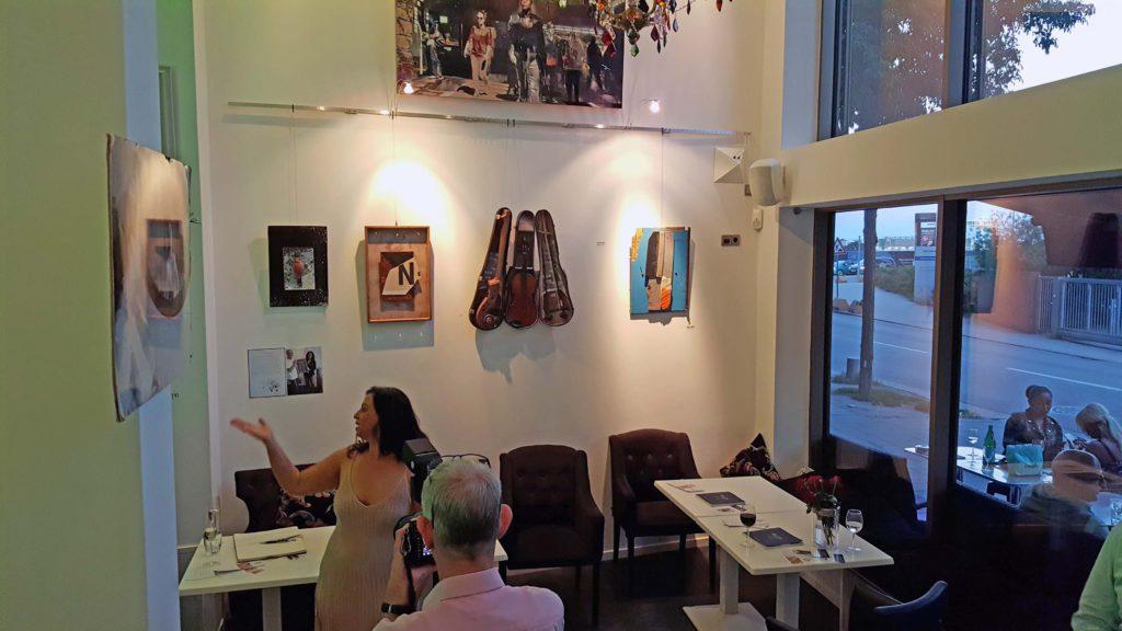 Kunst bei Nissi in der HafenCity