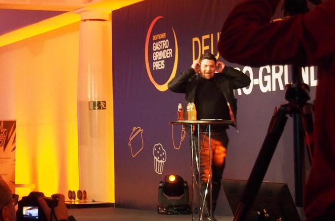 Tim Mälzer beim Gastro-Gründerpreis 2018