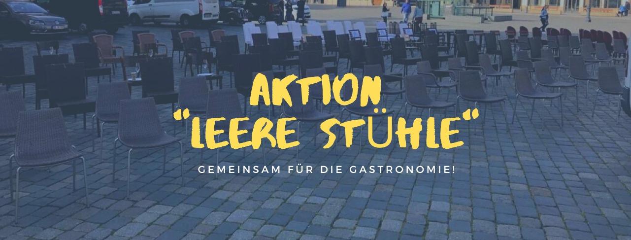 """Aktion """"Leere Stühle"""" - rettet die Gastronomie"""