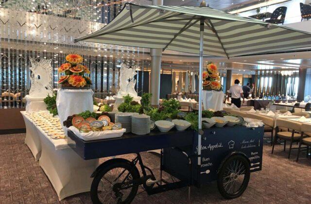 Food-Bike integriert im Buffet-Aufbau