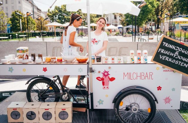 Food-Bike als Milchbar (Foto: Paul&Ernst Street Food Solutions)