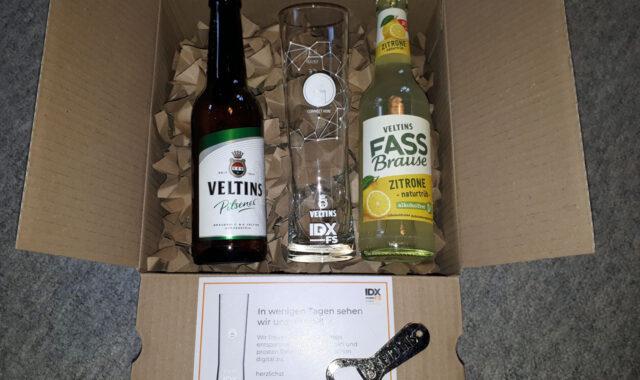 Veltins und Rastal Überraschungsbox zur Internorga Networking Lounge